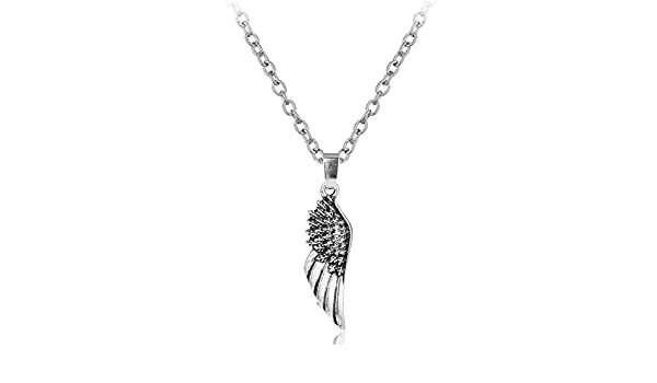DYKJ Angel Wings Supernatural Choker Necklace Steampunk Gothic Friendship Feather Pendant Necklace: Amazon.es: Joyería