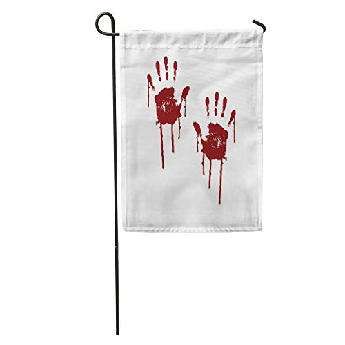 Semtomn Garden Flag Red Blood Bloody Scary Hands