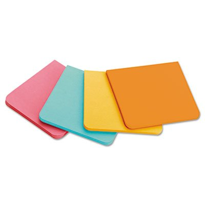 3M - Full Adhesive Notes, 2 x 2, Assorted Colors, 8/PK