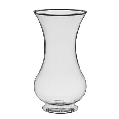 Syndicate Sales 9 3/4  Pedestal Vase, Clear