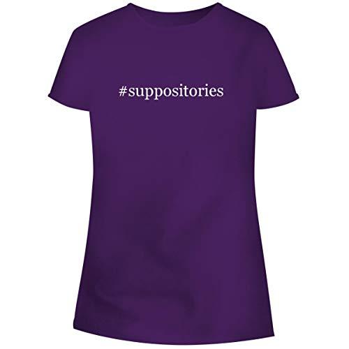 One Legging it Around #Suppositories - Hashtag Women's Soft Junior Cut Adult Tee T-Shirt, Purple, X-Large