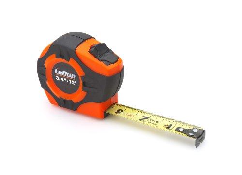 Lufkin PHV1312D Power Return Engineer's Tape, 3/4-Inch by 12-Feet, Hi-Viz Orange (Power Hi Tape Viz Return)