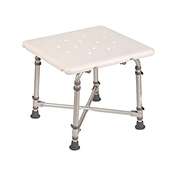 HealthSmart Germ-Free Heavy-Duty Bariatric Bath Seat Shower Chair Bench Stool, Supports up to 500 Pounds, White