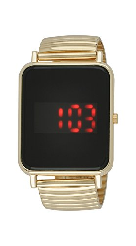 Moulin Unisex Digital One-Touch Expansion Band Rose Gold Watch #03388.77192