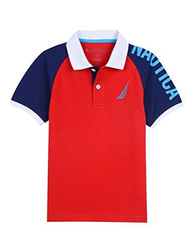 Nautica Boys' Short Sleeve Heritage Polo Shirt, Jorge Carmine Large ()