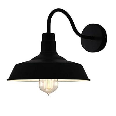 BayCheer HL371794 Industrial Retro style Aluminum Barn Warehouse Wall Sconce Wall Lamp Modern Lighting for Restaurant 1 Light, Black
