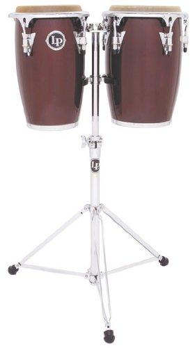 Latin Percussion LP Jr Wood Conga Set - Wine Red/Chrome by Latin Percussion