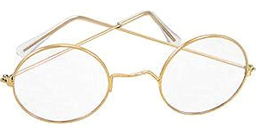 Round Glasses Santa & Mrs. Claus Old Fashioned Spectacles - Frames Fashioned Glasses Old