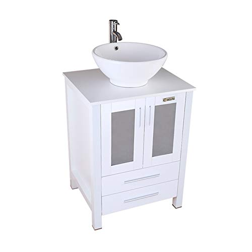 eclife White Bathroom Vanity Cabinet And Sink Units Modern S