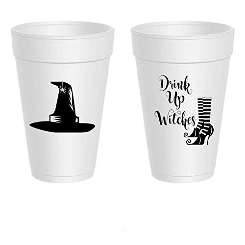 Mandeville Party Company Halloween Styrofoam Cups - Drink Up Witches (10 Cups)