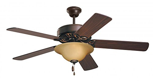 Emerson Ceiling Fans CF712ORB Pro Series Ceiling Fans, Indoor Ceiling Fan with Light, 50-Inch Emerson Fans Blades, Bronze Ceiling Fan with Oil Rubbed Bronze Finish (Wood Antique Ceiling Fan)