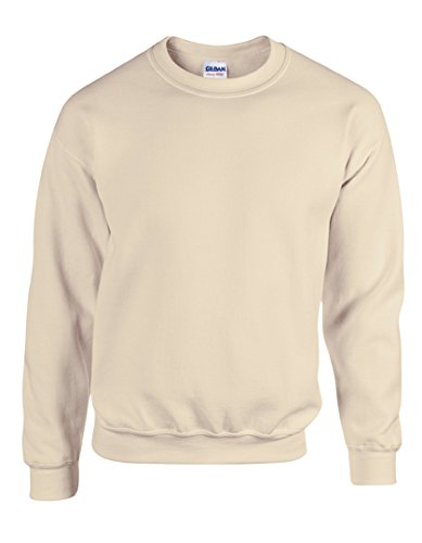 Gildan Men's Heavy Blend Crewneck Waistband Sweatshirt, X-Large, Sand by Gildan