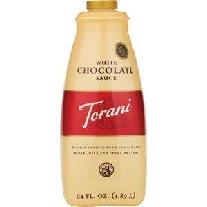 Torani White Chocolate Sauce - Case of 4 (64oz bottle) by Torani by Torani