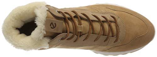 Zapatillas Mujer 51266 Altas 1 St Ecco para Cashmere Marrón XA7xwpnq