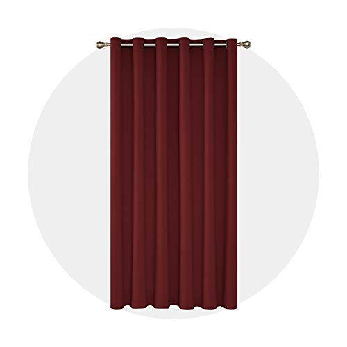 - Deconovo Solid Wide Width Curtain Grommet Blackout Thermal Insulated Room Darkening Curtain Patio Door Blinds 80Wx84L Inch Crimson Red 1 Panel
