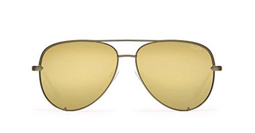 Quay X Desi Perkins High Key Sunglasses (Army Green, - Glasses Sunglasses Australia Over