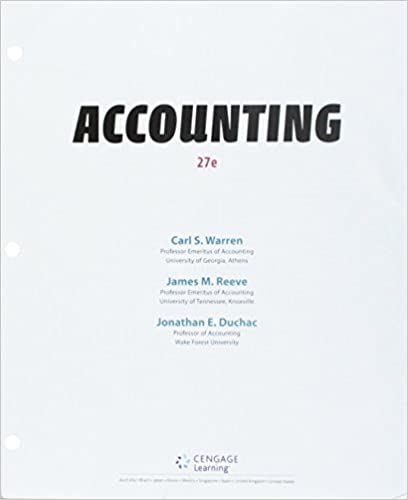 Accounting (Looseleaf) W/Cengagenowv2