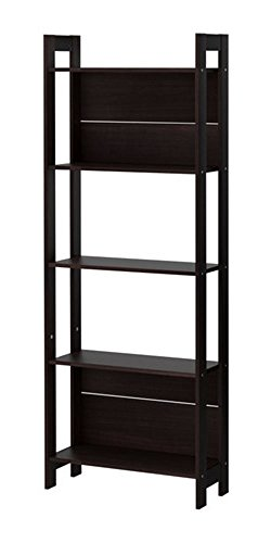 Laiva Home Office Bookcase Storage Unit - Black/Brown