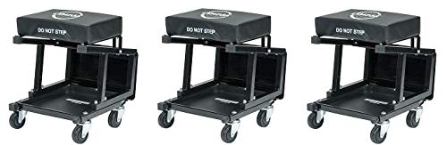 Omega Lift 91305 Omega Lift 2-in-1 Mechanics Creeper Seat/Step Stool, 7.88'' Height, 17.72'' Width, 15.75'' Length (3-(Pack))