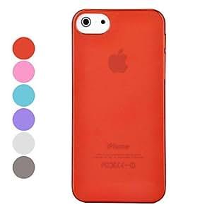Material de la caja desviaci¨®n del color s¨®lido de la PC 0.7mm ultrafinos duro para el iphone 5/5s (colores surtidos) , Gris
