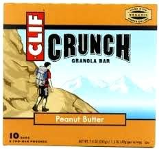 Clif Crunch Granola Bar, PEANUT BUTTER, 5 Two-Bar Pouches (6 PACK) 60 DELICIOUS BARS