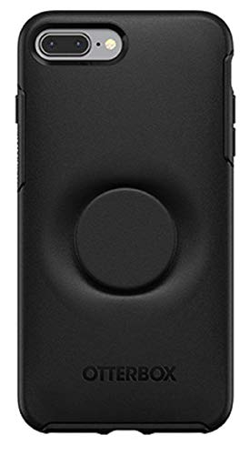 OtterBox Symmetry Pop Socket Case for iPhone 8 Plus / 7 Plus with Screen Protector fits OtterBox - Black