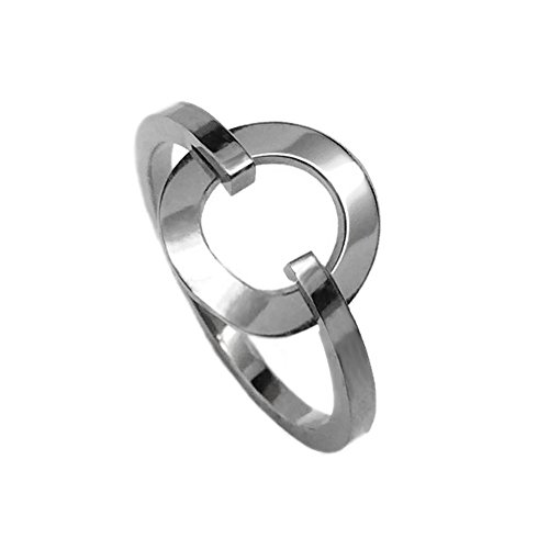 Loralyn Designs Stainless Steel Simple Open Circle Ring for Women (Size 8) (Ring Design Circle)