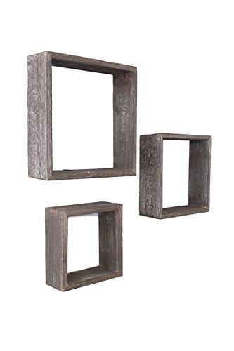 BarnwoodUSA Reclaimed Wooden Shelves - Set of 3
