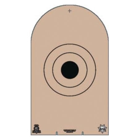 Law Enforcement Targets NRA AP-1 Cardboard Target 100 Per by Law Enforcement Targets