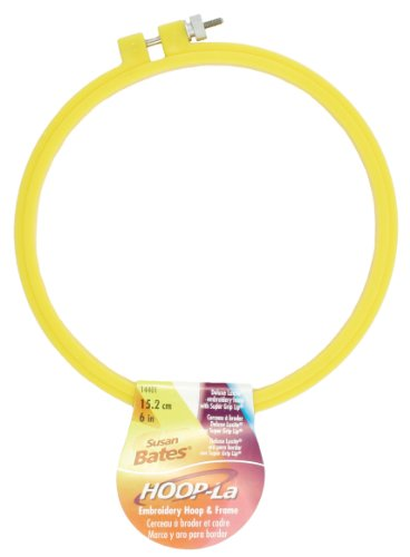 Hoop-La 14401.006 Embroidery Hoop, 6-Inch - Flexible Embroidery Hoops