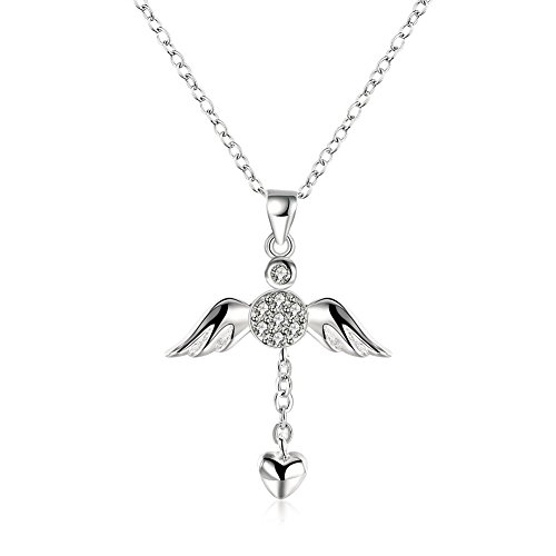 Silver I Love Jesus Cross Heart Necklace Pendant Chain,Jewelry with a Luxury Gift Bag for Easy Gift Giving Womans Necklace Birthday Gifts For Women Gifts For Girls .925 Sterling Silver by Azelias Jewelry