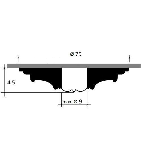 75 cm diam/ètre Rosace D/écoration de plafond El/ément de stuc Orac Decor R27 LUXXUS El/ément d/écoratif classique blanc