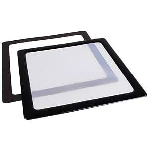 Demciflex - Filtro antipolvo para ventilador de ordenador (200 mm), color blanco y negro