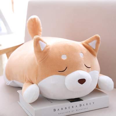 DONGER Super Weicher Netter Hund des Spielzeughundepuppenkissens, Der Puppe Der Schlafenden Puppe, Hellbraunes Zwinkern, 58 cm Hält