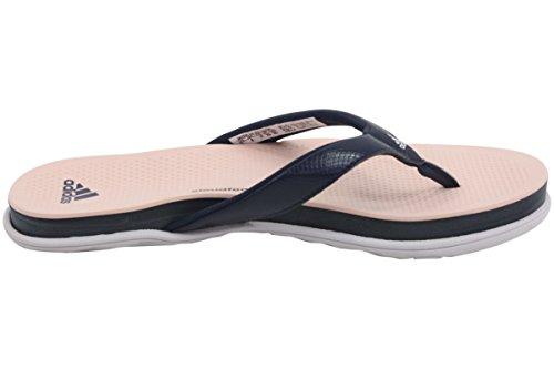 Adidas Donna Cloudfoam Ultra-perizoma Sandalo Blu Scuro, Viola Ghiaccio, Foschia Corallo