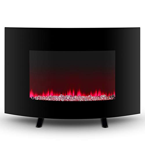 Cheap Mandycng Freestanding Electric Fireplace Spa Massage Shop Hallway Livingroom Fireplace Winter Heater Modern Changeable Color Flame Fireplace 2-in-1 Wall Mount Freestanding Fireplace Heater w/Remote Black Friday & Cyber Monday 2019