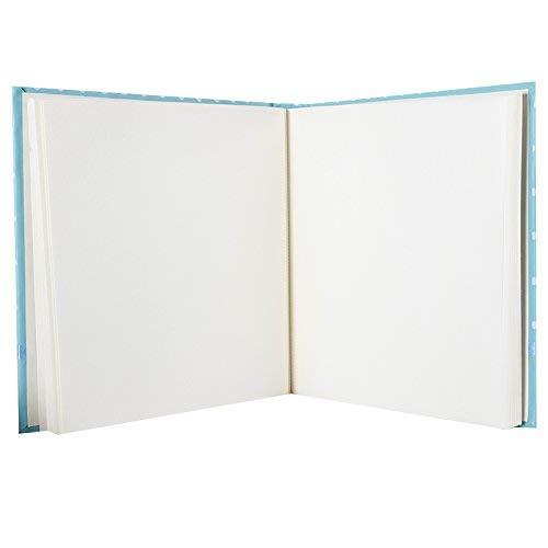 /Álbum de fotos tradicional para recuerdo del nacimiento 60/p/áginas blancas incluye 1/caja con 500/discos de doble cara color azul