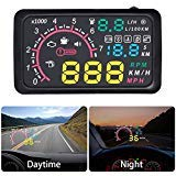OBD2 Port Car Hud Head Up Display KM/h MPH Overspeed Warning Windshield Projector Alarm System (Display Electronic)