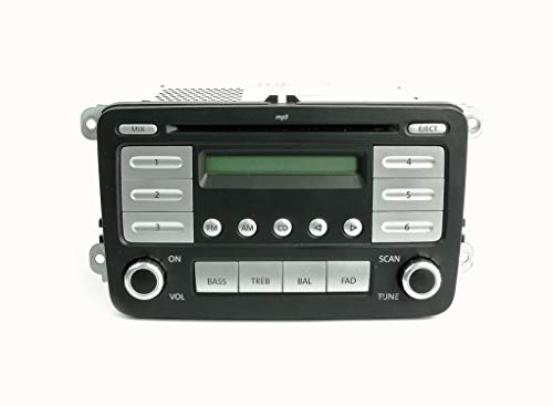 1 Factory Radio 638-51390-NOA-BLEM OEM AM FM MP3 Radio CD Player Remanufactured Black/Silver OE Part Number: 1K0035161D OEM AM FM MP3 Radio CD ()