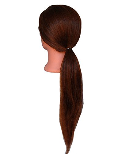 (SUPER LONG) HairZtar 100% Human Hair 26 - 28'' Mannequin Head Hairdresser Training Head Manikin Cosmetology Doll Head (LUCY+CLAMP) by HairZtar (Image #3)