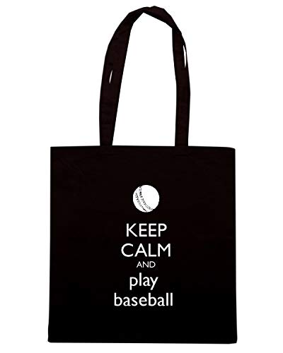 CALM PLAY TKC3049 KEEP Shirt Shopper BASEBALL Nera Speed Borsa AND xgFvFf