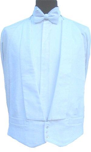 100% Cotton White Marcella Waistcoat - 42' Regular Clermont Direct
