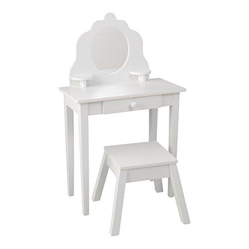 KidKraft 13009 Medium Vanity & Stool, White