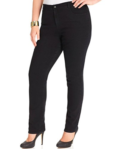 Style & co. Plus Size Tummy Control Slim-Leg Jeans, Noir Wash (14W, Black) by Style & Co.