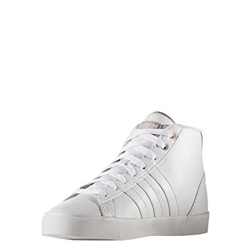 adidas Cloudfoam Daily Qt Mid W, Zapatilla de Deporte Baja del Cuello para Mujer, Blanco (Ftwbla/Ftwbla/Cobmet), 36 EU