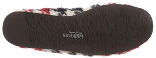 Para Mujer schwarz 907 Karo De Laschenballerina rot Zapatillas Estar Por Kitzbühel Casa Mehrfarbig Rot schwarz Living pzqg1wn