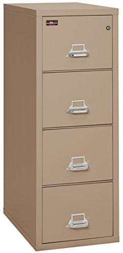 Taupe Vertical File Cabinet (Fireking Fireproof 2 Hour Rated Vertical File Cabinet (4 Letter Sized Drawers, Impact Resistant, Waterproof), 56.19