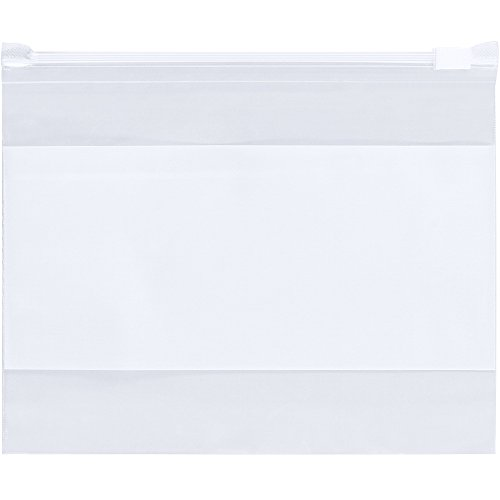 0/Case) Write-On White Block Slide Seal Reclosable Plastic Slider Zip Poly Bags (Mil Slide Seal Poly Bags)