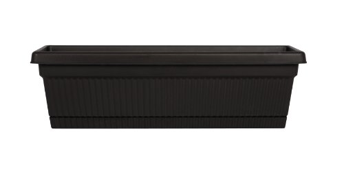 Fiskars 18 Inch Classic Box, Black (Black Classic Planter)