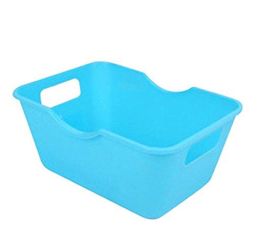 Desktop Storage Boxes, Rukiwa Plastic Home Office Desktop Makeup Organizer Storage Box (Sky Blue) price